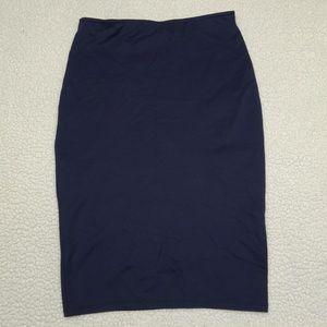 Navy blue pencil stretch skirt size M
